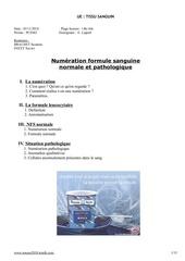 p2 tissu sanguin numeration et formule 0411