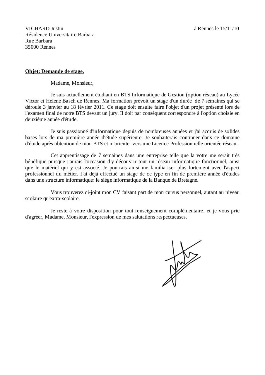 Lettre de motivation Bac  1 Italien