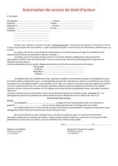 autorisation de cession de droit d
