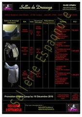selles dressages prix 10 12 10