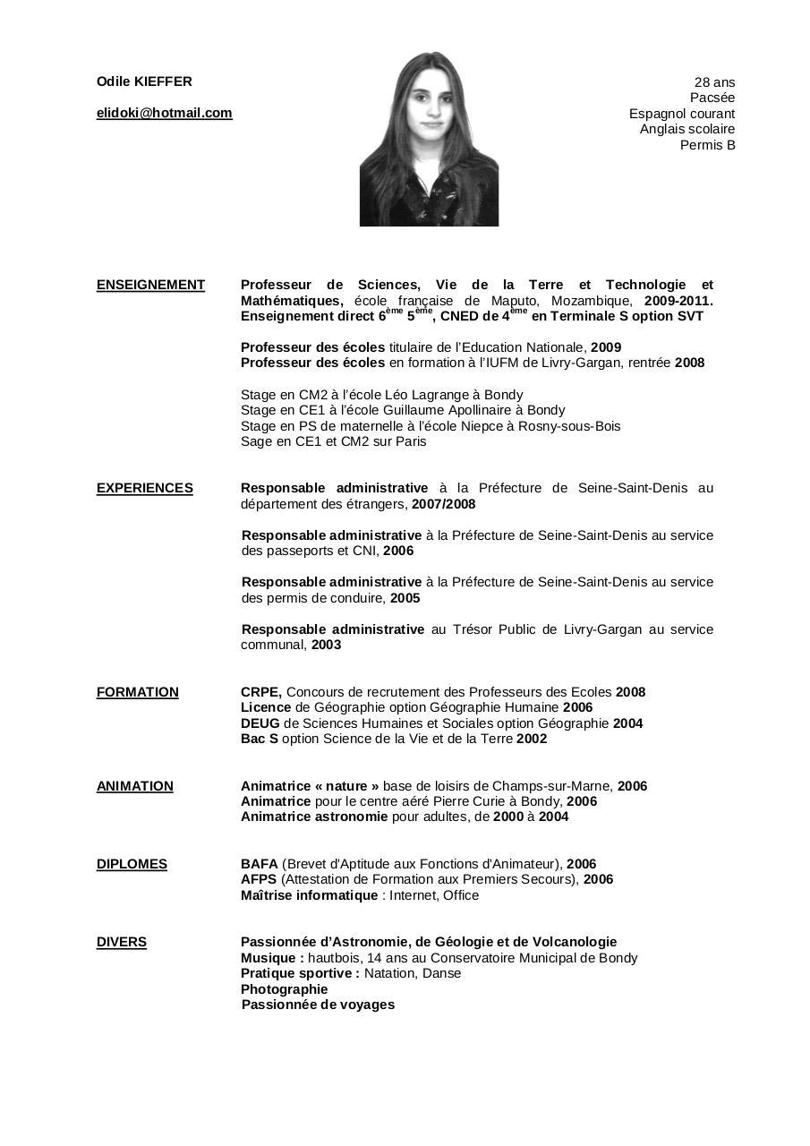 cv odile 2010 pdf par vincent