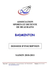 dossier d inscription