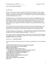 a letter from garcia