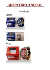 montres clubs et selections