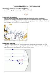 Fichier PDF dico photographie