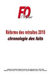 dossier reforme des retraites 2010