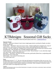 seasonal gift sacks