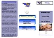 brochure formations sociales2011