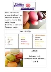 presentation macarons