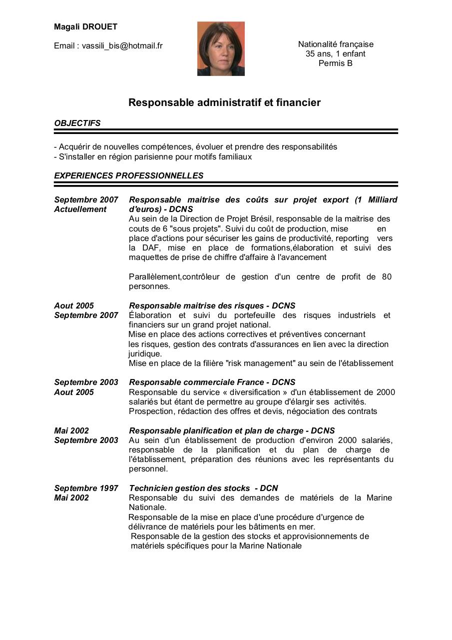 exemple cv ordonnancement