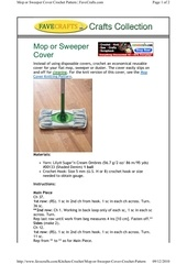 mop or sweeper cover