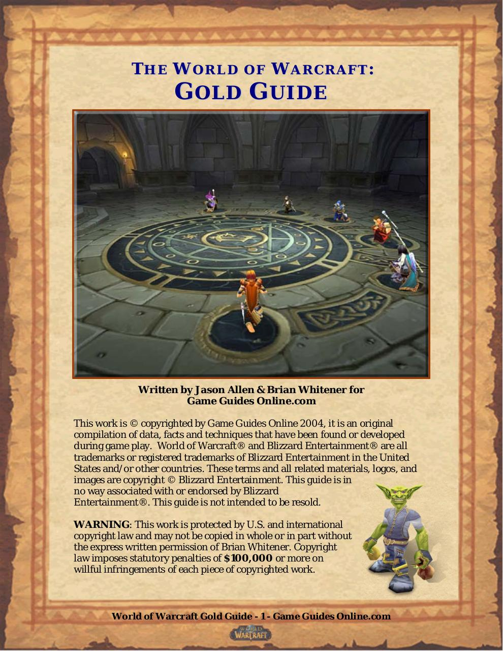 World Of Warcraft Official Strategy Guide Par Sarah Fisher Fichier Pdf