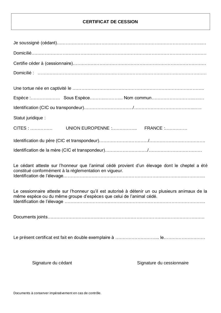 certificat de cession par moureau marie laurence certificat fichier pdf. Black Bedroom Furniture Sets. Home Design Ideas