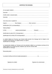 Fichier PDF certificat cession