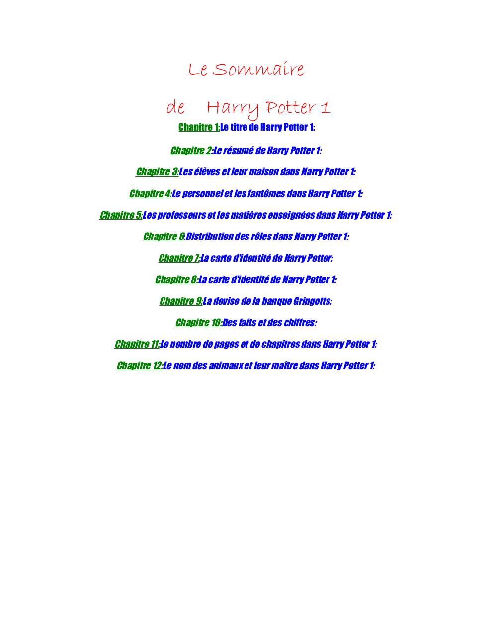 Harry Potter 1 Fichier Pdf