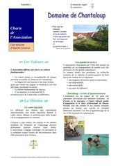 charte de l association