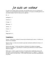 Fichier PDF fiche du voleur