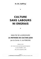 methode de culture jean