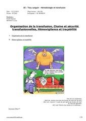 organisation de la transfusion