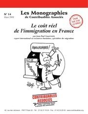 le cout de l immigration monographie