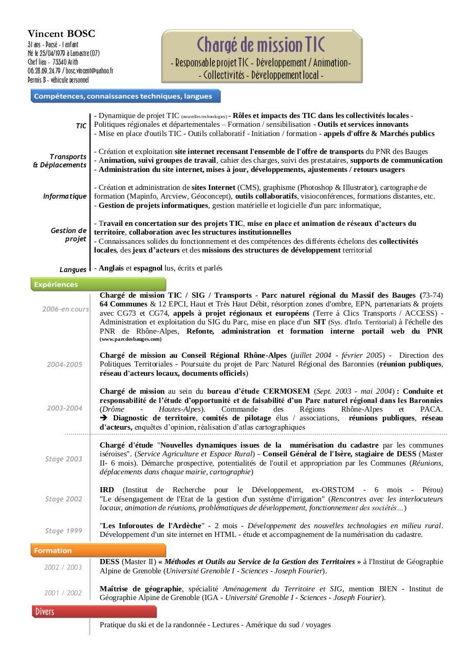 cv vincent bosc - cv - transports v2 pdf