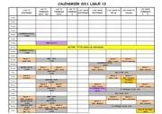 calendrier 2011 ligue