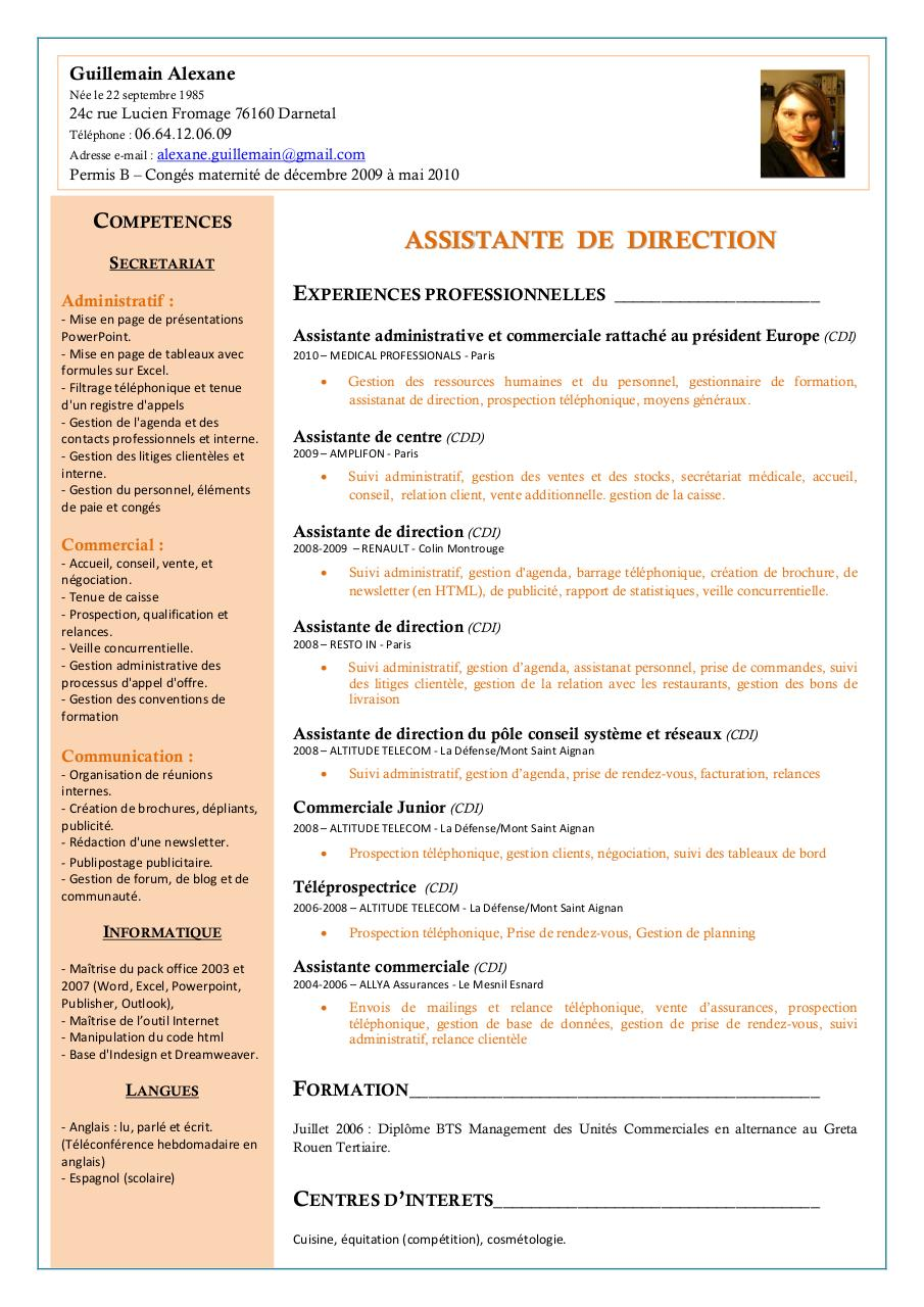 cv alexane doc par nancy - cv alexane pdf