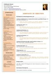 Fichier PDF cv alexane