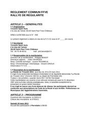 reglement ronde du tricastin 2011
