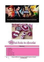 mini boite de chocolat 1er partie