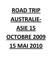 road trip australie asie