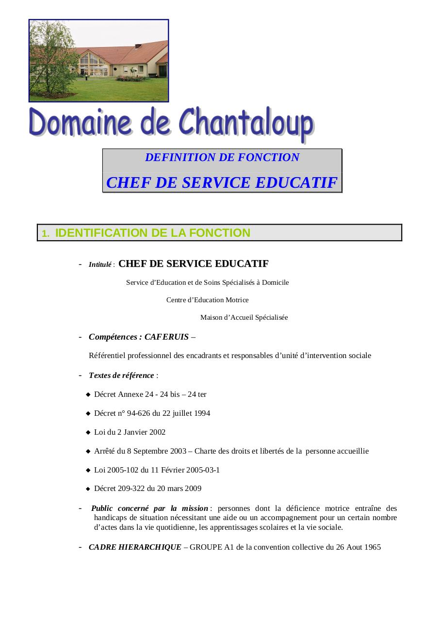 CHEF DE SERVICE EDUCATIF 2011.pdf - page 1/6