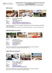 hotels pour diffusion clients ahf2011