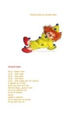 traduction du clown hma