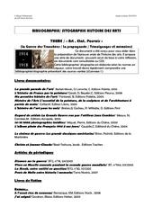 bibliographie histoire des arts