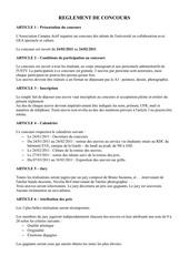 Fichier PDF reglement de concours