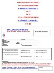 bulletin adhesion 27
