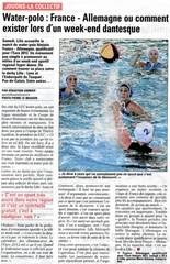 water polo france allemagne 29 janvier 2011