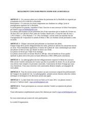 Fichier PDF reglement concours photo