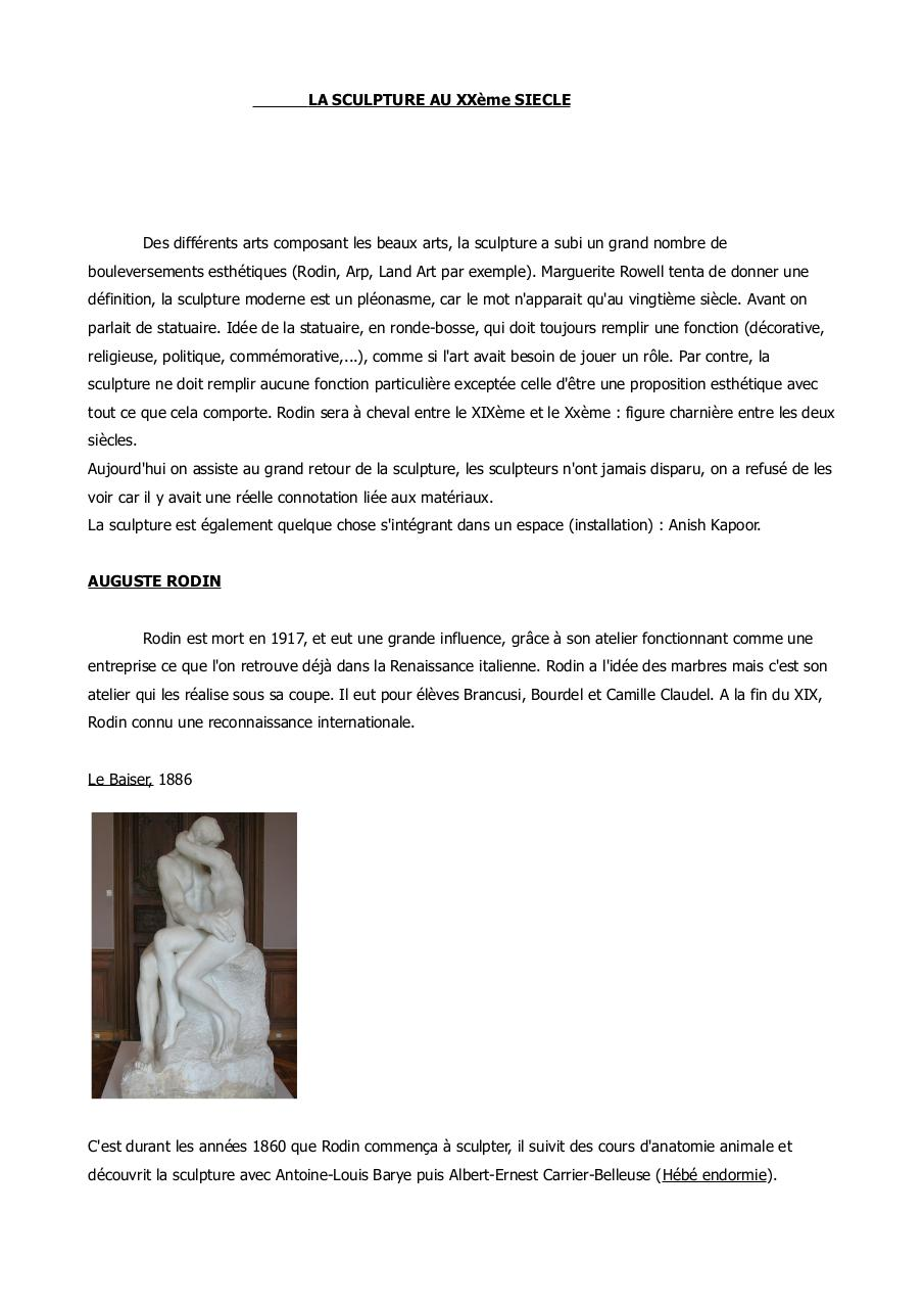 Aperçu du document Sculpture au XX.pdf - page 1/27