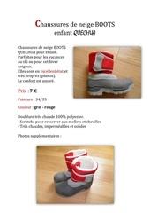 chaussures de ski boots quechua