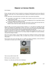 reparer un lanceur bendix