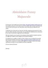 abecedaire funny majuscule