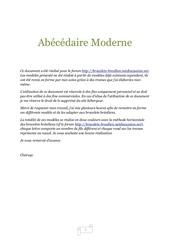 abecedaire moderne