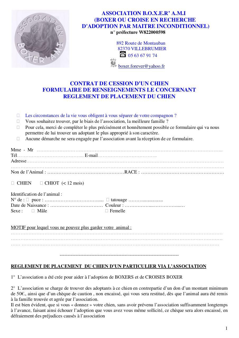 Contrat Cession Boxerami4 Doc Cession Reglement 8 12 Pdf Fichier Pdf
