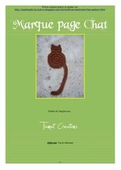 marque page chat
