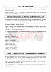 reglement tqc fpt clubs