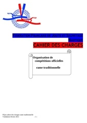 cahier des charges rame traditionnelle 2011
