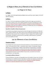 Fichier PDF la magie le mana les 32 elements et leurs correlations