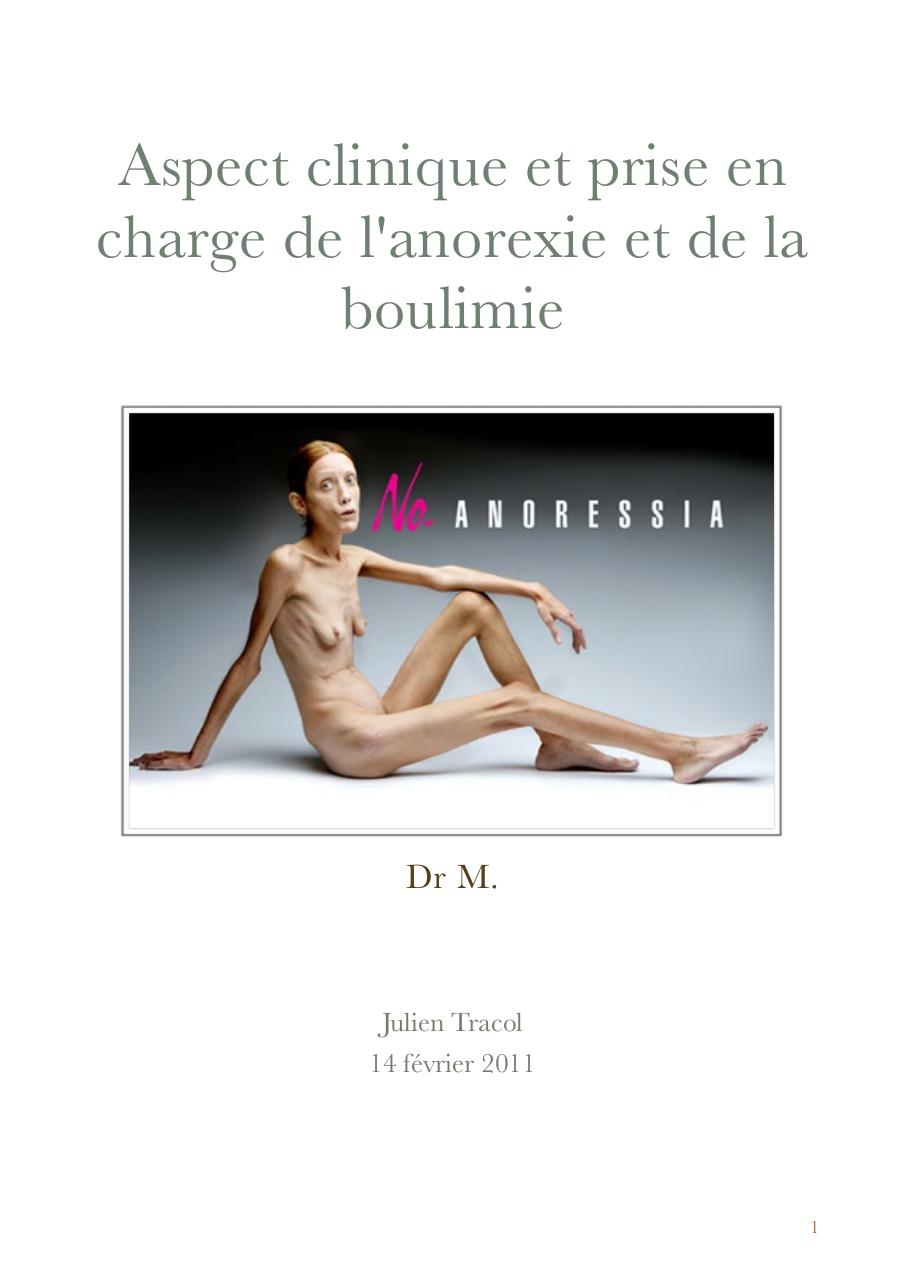 Anorexie et boulimie par Julien Tracol - Fichier PDF